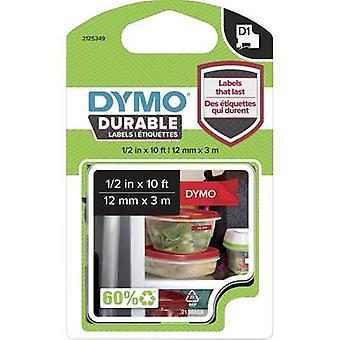 Märkning tape DYMO D1 1978366 Vinyl Tape färg: röd teckensnitt färg: vit 12 mm 3 m