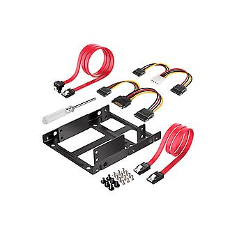 Inateck ssd mounting bracket 2.5 to 3.5 with sata cable and power splitter cable, st1002s ssd mounti