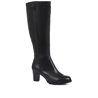 Regarde Le Ciel Womens Patricia 30 Block Heel Knee High Boots