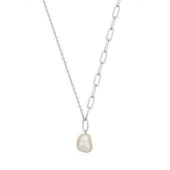 Ania Haie Rhodium Pearl Chunky Necklace N019-03H