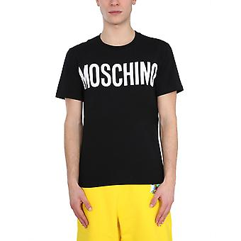 Moschino 072920391555 Mænd's Black Cotton T-shirt