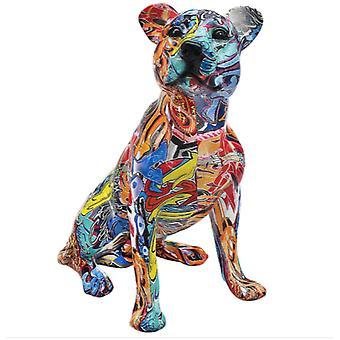 Graffiti Sitting Dog Figurine By Lesser & Pavey