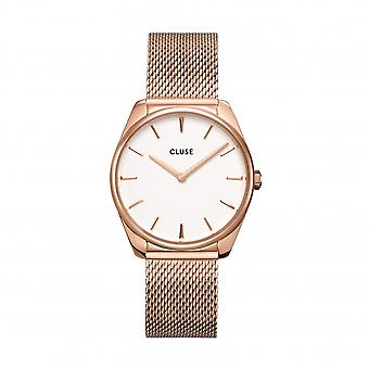 Cluse Ladies Feroce Rose Gold Circle Quartz Fashion Watch CW0101212002