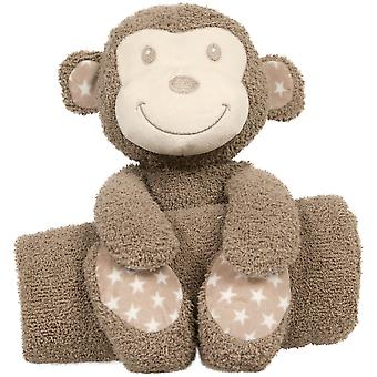 Mammababy Teddy and Blanket - Monkey