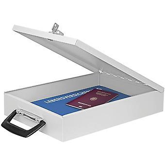 Wedo A4 Document Box with Handle - Light Grey