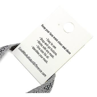 Face Mask Lanyard - White - Be Strong