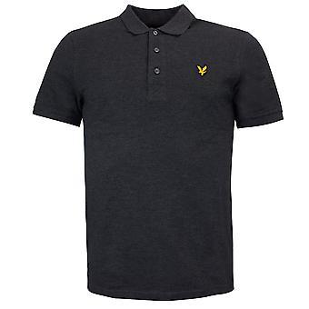 Lyle & Scott Manga Curta Algodão Simples Pique Polo Camisas Masculinas SP100CL 398