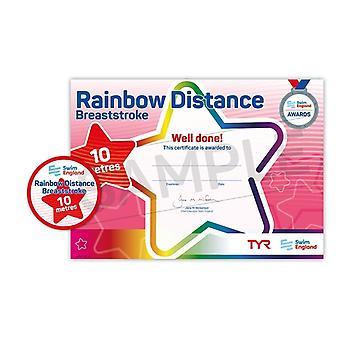 ASA zwemmen Engeland Rainbow beroerte Award - schoolslag - 10m