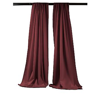 La Leinen Pack-2 Polyester Poplin Hintergrund Drape 96-Zoll breit von 58-Zoll hoch, Burgund