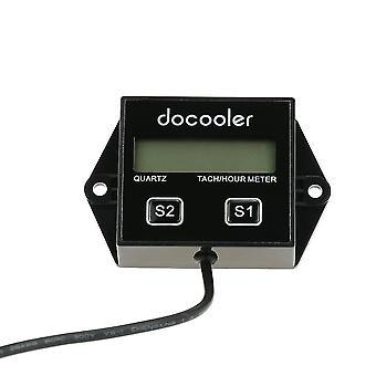 Moteur numérique tach tachometer mesure mètre réinstallable inductive pour la moto de course