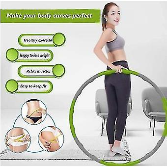 緑の加重フラフープ腹部エクササイザーフィットネスコア強度フーラ