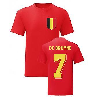 Kevin De Bruyne Bélgica Herói Nacional Tee\'s (Vermelho)