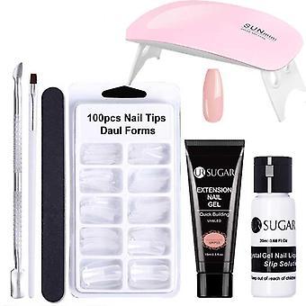 Extender constructor rápido uv gel slip solución nail form nail art cepillo de uñas herramienta de uñas kit