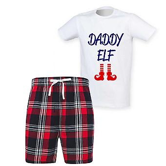 Mens Daddy Tonttu Tartan Lyhyt Pyjama Setti