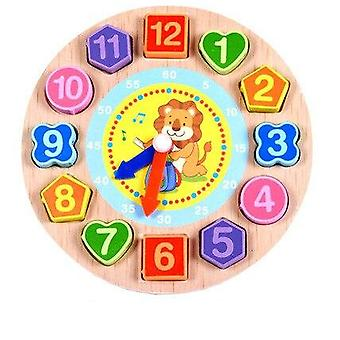 Wooden Calendar Teaching Aids Multifunctional Hanging's Clock Beaded Early