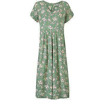 Masai Clothing Nasira Green Floral Jumpsuit