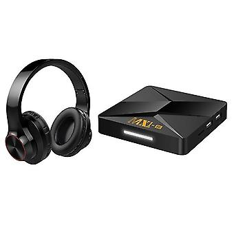 Wireless binaural bluetooth headset with mx1-se tv box rk3228a android 9.0 network player 1gb+8gb 2.4g
