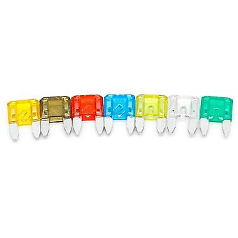 35pcs Mixed Mini Blade Fuse Auto Car 5 7.5 10 15 20 25 30 Amp