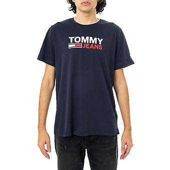 Camiseta masculina tommy jeans tjm corp logotipo tee dm0dm10214.c87