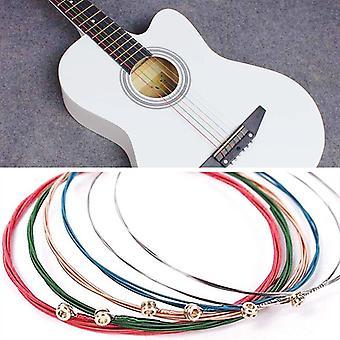 Rainbow Colorful Guitar Strings E-a For Acoustic Folk Guitar