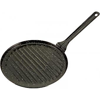 grill pan 24 x 44 cm ceramic black