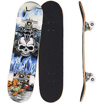 FengChun Skateboard Komplettboard 31 x 8 Zoll mit ABEC-7 Kugellager 9-lagigem Ahornholz fr Kinder