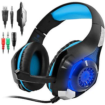 FengChun GM-1 Gaming Headset für PS4 Xbox One PC Tablet-Handy, Stereo-LED-Hintergrundbeleuchtung