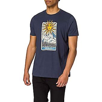 Springfield Camiseta Regular T-Shirt Card, Medium Blue, Men's S