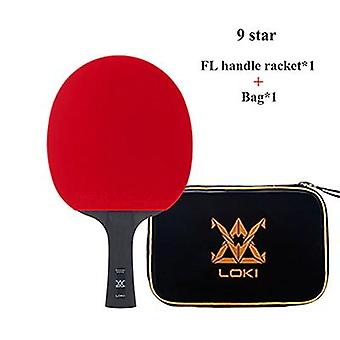 9 Star Super Sticky Table Tennis Racket Carbon(Long)