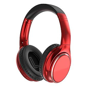 Rode Bluetooth 5.0 draadloze hoofdtelefoon HIFI Headset Sport Gaming opvouwbaar over ear stereo TF-kaart