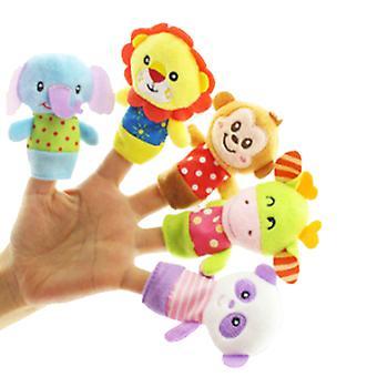5kpl vanhempien ja lasten sorminukkeja, vauvan lohduttut muhkeat lelut