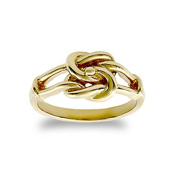 Jewelco London Kids Solid 9ct Yellow Gold Double Knot Baby Ring