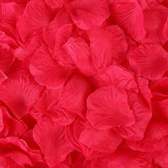Keinotekoinen kangas häät ruusu terälehtiä
