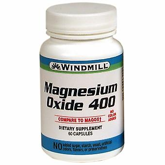 Windmill Health Magnesium Oxide, 400 mg, 60 Caps