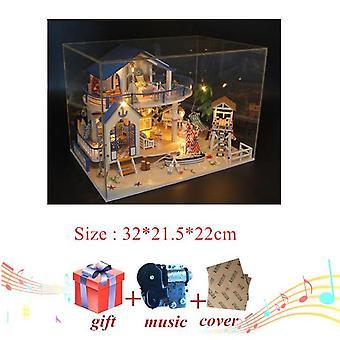 أنماط مختلفة من بيت الدمى الأثاث DIY مصغرة 3D خشبية miniaturas دمية لعب للأطفال هدايا عيد ميلاد