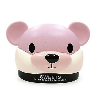 Terra mouse tissue box, desktop plastic tissue storage tube(Pink)