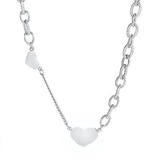 Women Necklace Love Heart Titanium Steel Women Necklace Clavicle Chain For Ceremony