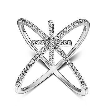 925 Sterling Silber Ring Zirkonia Hochzeit Verlobung