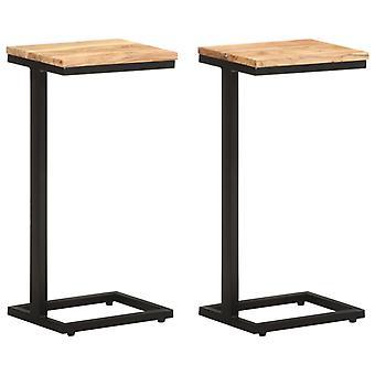vidaXLサイドテーブル 2個. 31.5x24.5x64.5 cm 無垢材アカシア
