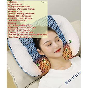 Entspannung zervikaler Haushalt elektrische Massage Kissen Schulter Rücken aufblasbar Dual warme Kompresse verwenden Kneten Shiatsu