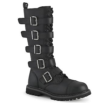 Demonia Unisex Boots RIOT-18BK Blk Vegan Leather