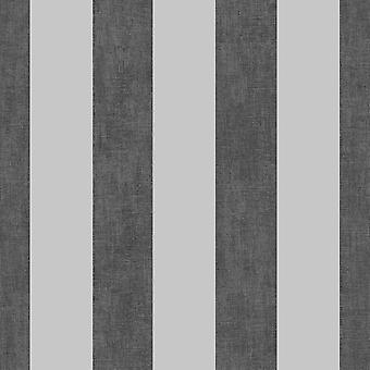 Muriva Darcy James Linne Rand Svart Silver Tapeter 173564