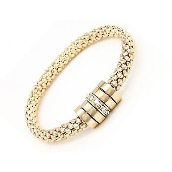Onyx Armband insvepta med kristaller från Swarovski - Gold 2 Pack