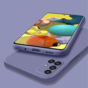 Mitt valg Samsung Galaxy A52 Square Silikon Tilfelle - Myk Matt Tilfelle Flytende Deksel Mørk Lilla