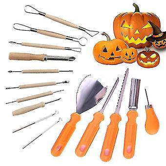 Halloween kurpitsa kaiverrus sarja toimittaa ruostumattomasta teräksestä kurpitsa kaiverrus työkalu