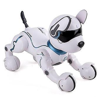 Älykäs älykäs elektroninen laulava lemmikki RC-lelurobottikoiramalli, jossa on kevyt ääni| RC-robotti (sininen)