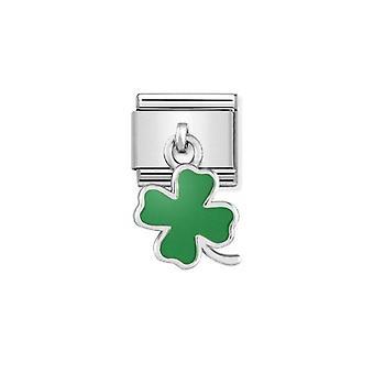 Nomination italy composable link four leaf clover pendant charm 331805_01