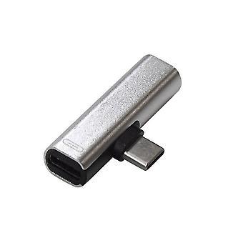 USB-C Splitter med 3,5 mm uttag - Silver