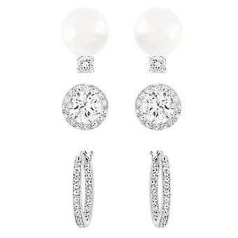 Swarovski jewels set of earrings x3 pairs  5184314