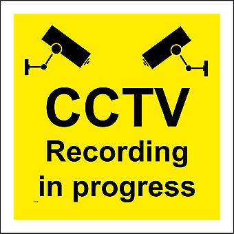 CT020 Cctv Recording In Progress Sign with Camera